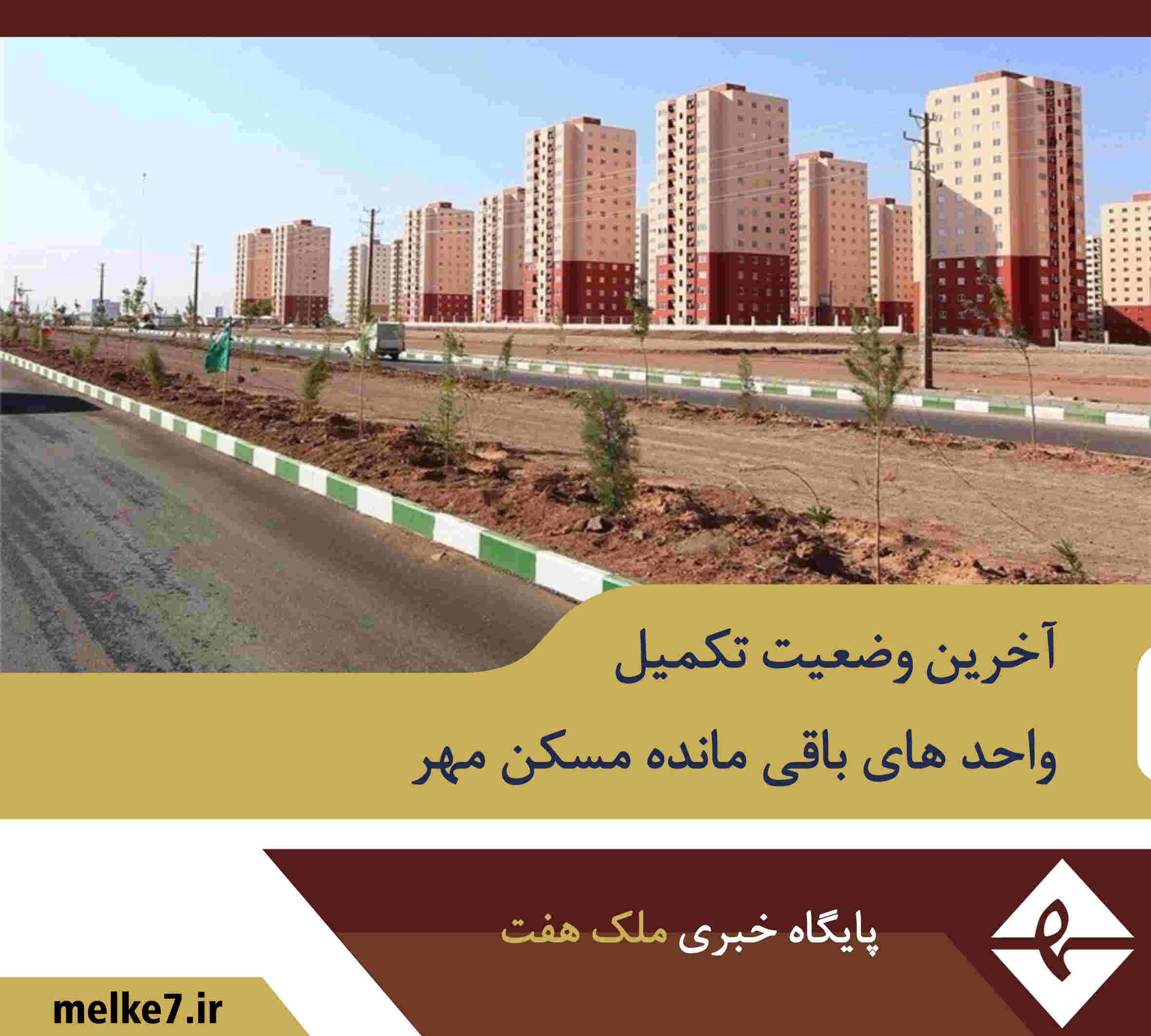 آخرین وضعیت تکمیل واحدهای باقیمانده مسکن مهر