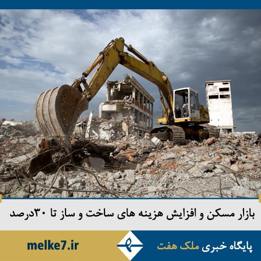 بازار مسکن و افزایش هزینه های ساخت و ساز تا 30 درصد