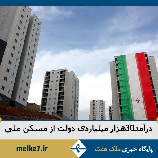 30 هزار میلیارد تومان نقدینگی، درآمد دولت از طرح مسکن ملی