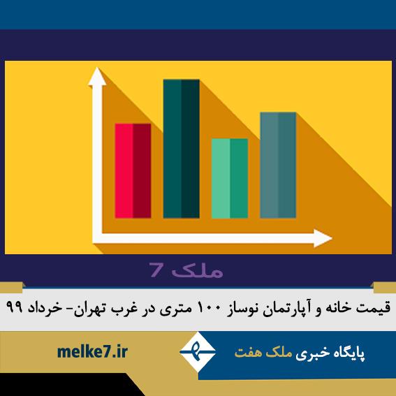 قیمت خانه و آپارتمان نوساز 100 متری در غرب تهران - خرداد99