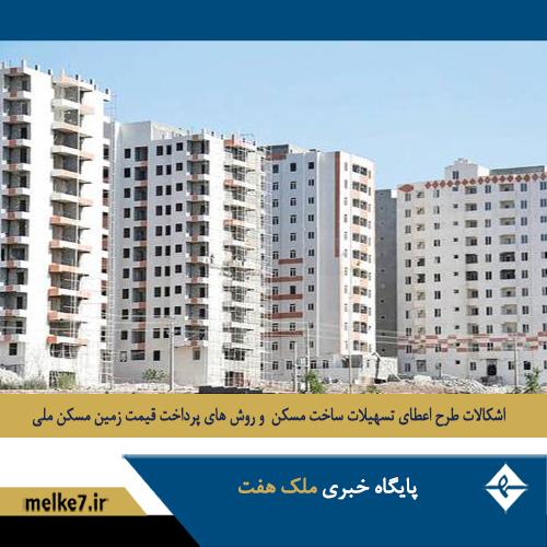 مشکلات طرح اقدام ملی در اعطای تسهیلات ساخت مسکن های نیمه ساز
